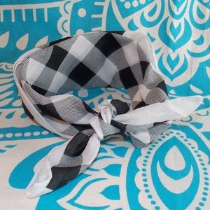 Black and White Checkerboard Bandana Rockabilly